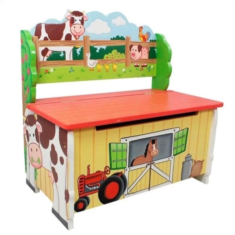 Fantasy Fields Happy Farm Storage Bench Walmart