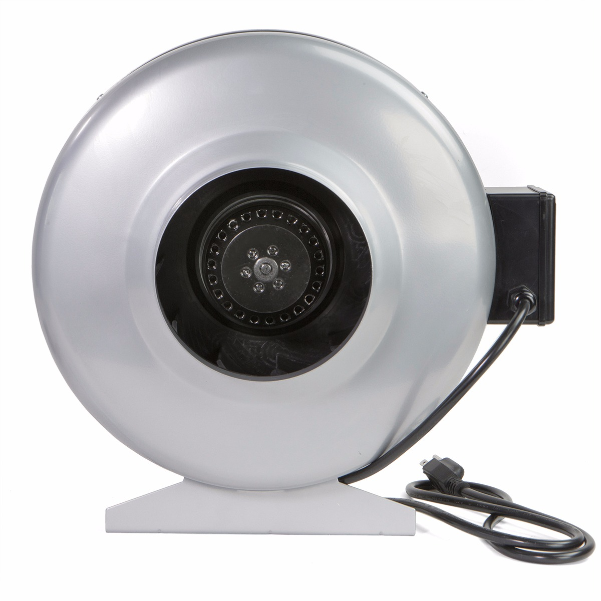 xtremepowerus 6 duct exhaust fan air blower with vent bracket silver