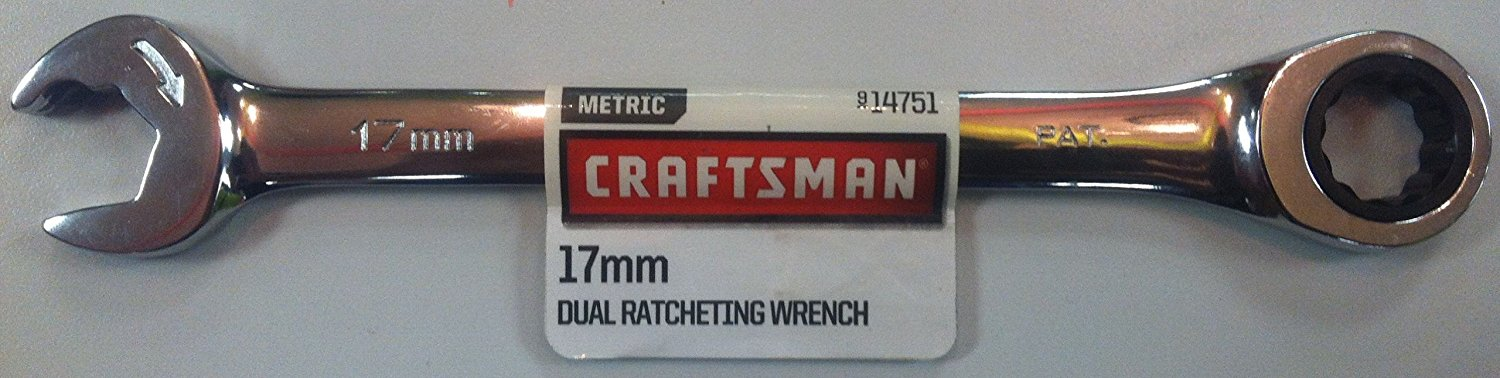 17mm dual ratcheting combination
