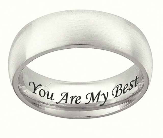 Personalized Stainless Steel Wedding Band Mm