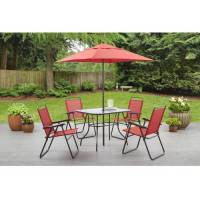 Mainstays Searcy Creek 6-Piece Folding Outdoor Dining Set ...