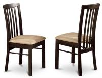 Dining Room Chair in Cappuccino Finish - Set of 2 ...