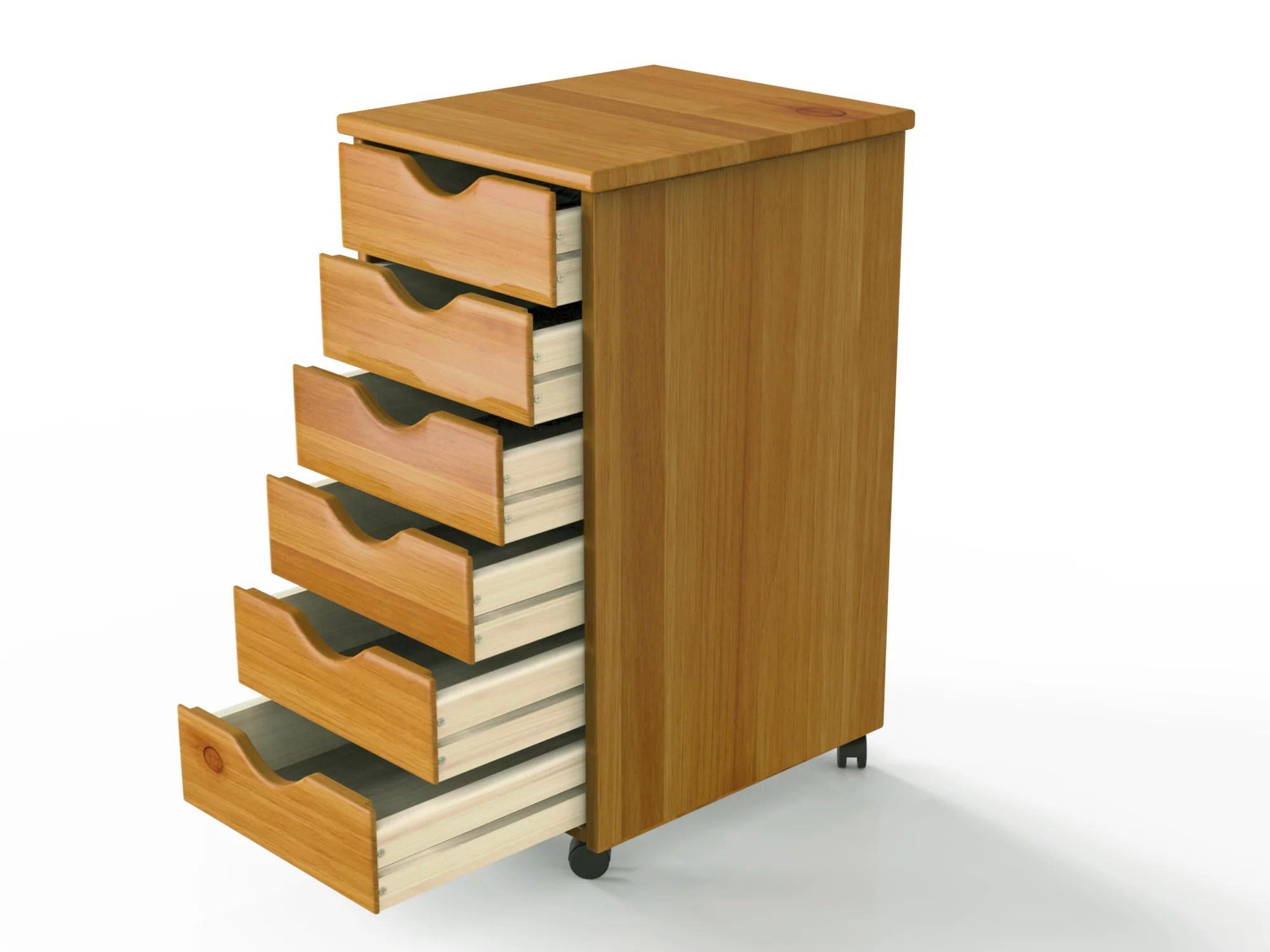 Adeptus Wood Rolling Craft Storage Drawers Walmart Com Walmart Com