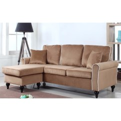 Hayden Sectional Sofa With Reversible Chaise Corner Drawers Madison Home Traditional Small Space Velvet