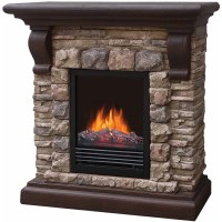 "40"" Polyfiber Electric Fireplace, Tan - Walmart.com"
