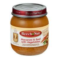 Beech Nut Stage 2 Macaroni & Beef with Vegetables, 4.0 OZ ...