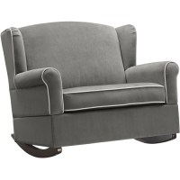 Baby Relax Lainey Wingback Chair and a Half Rocker ...
