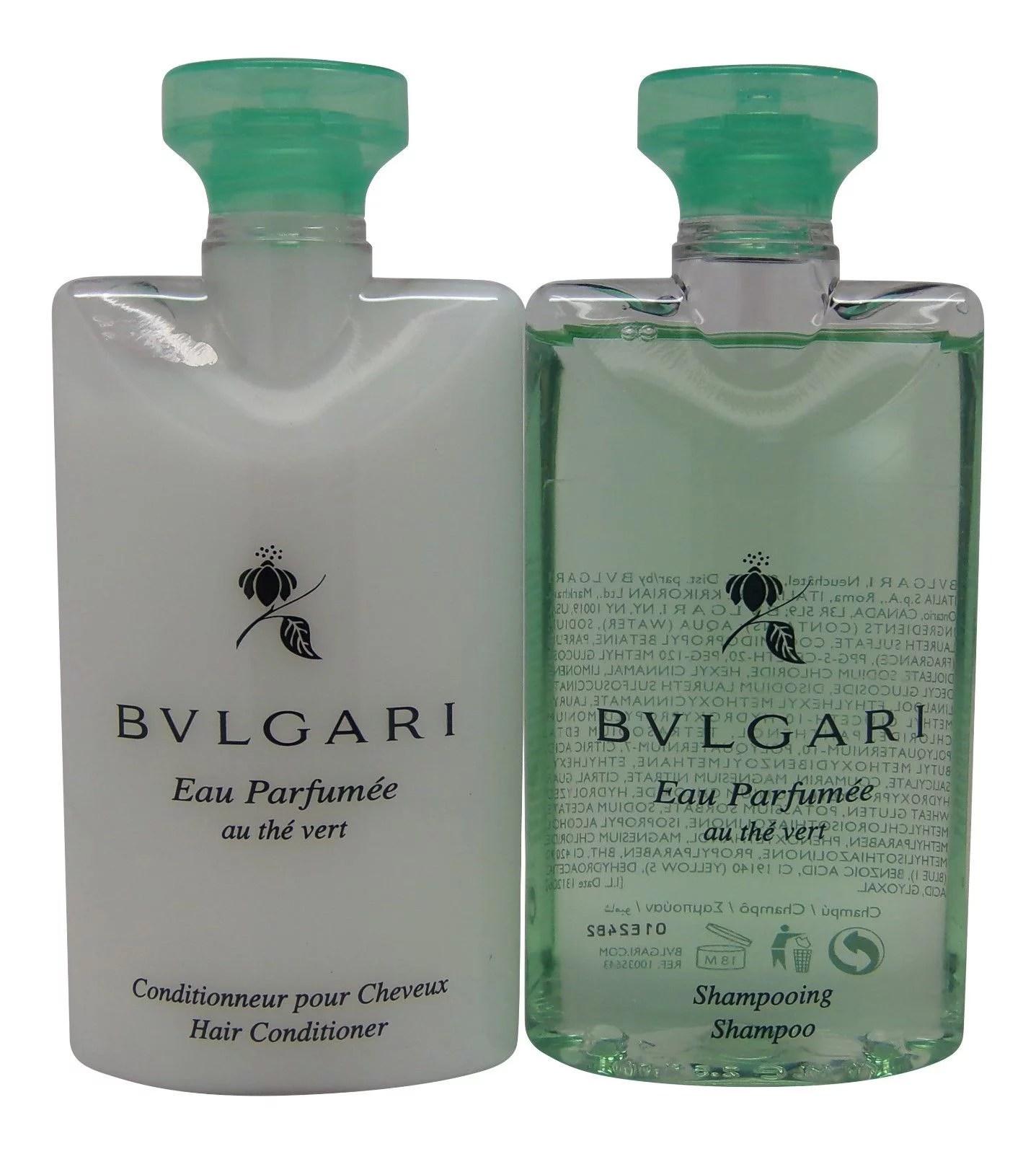 Bulgari - Bvlgari au the vert Green Tea Shampoo & Conditioner lot of 2 (1 of each) - Walmart.com