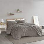 Home Essence Apartment Leena Shaggy Faux Fur Comforter Set Twin Twin Xl Grey Walmart Com Walmart Com