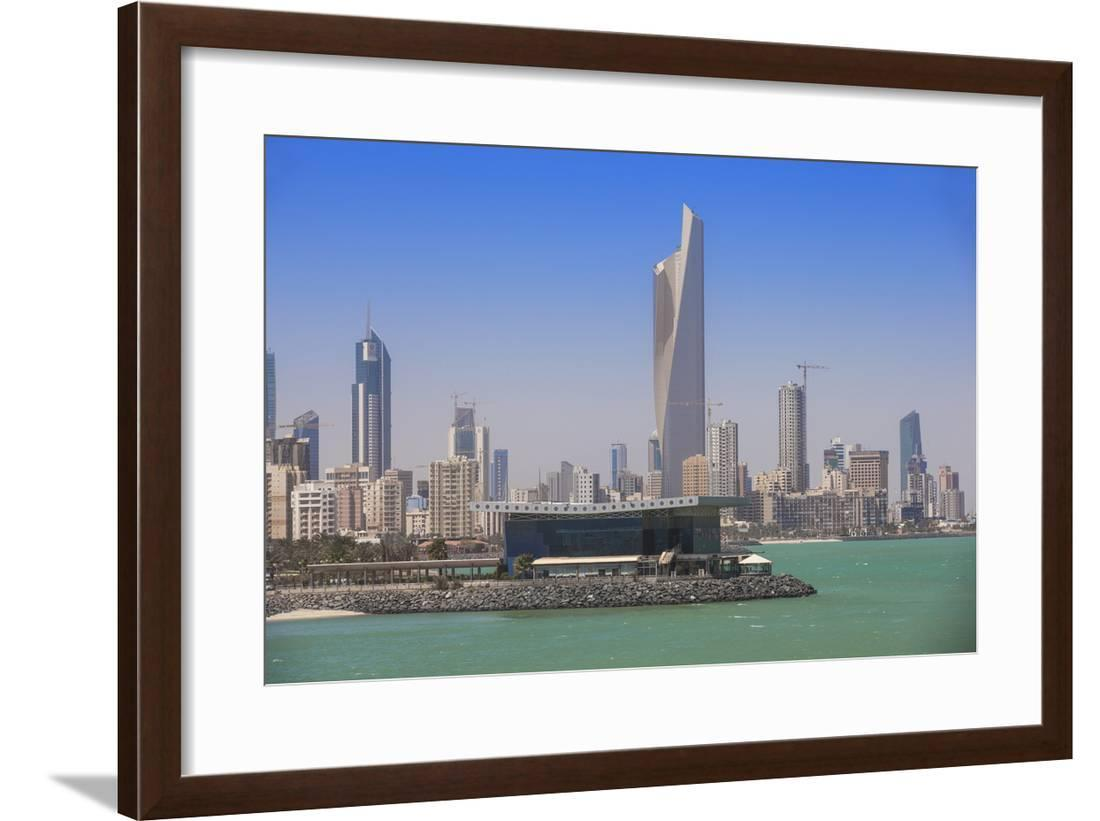 Arabian Gulf And City Skyline Salmiya Kuwait City