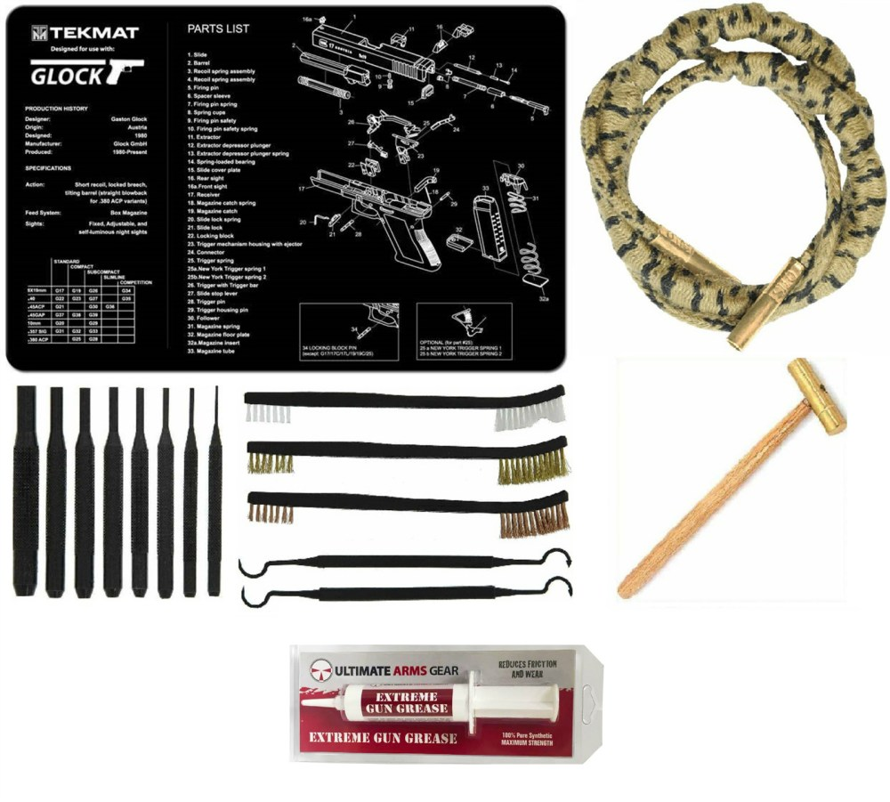 medium resolution of otis technology ripcord rip cord for 40 cal ultimate arms gear gunsmith cleaning gun mat glock pistol 8 pc punch takedown tool set kit 8 hammer