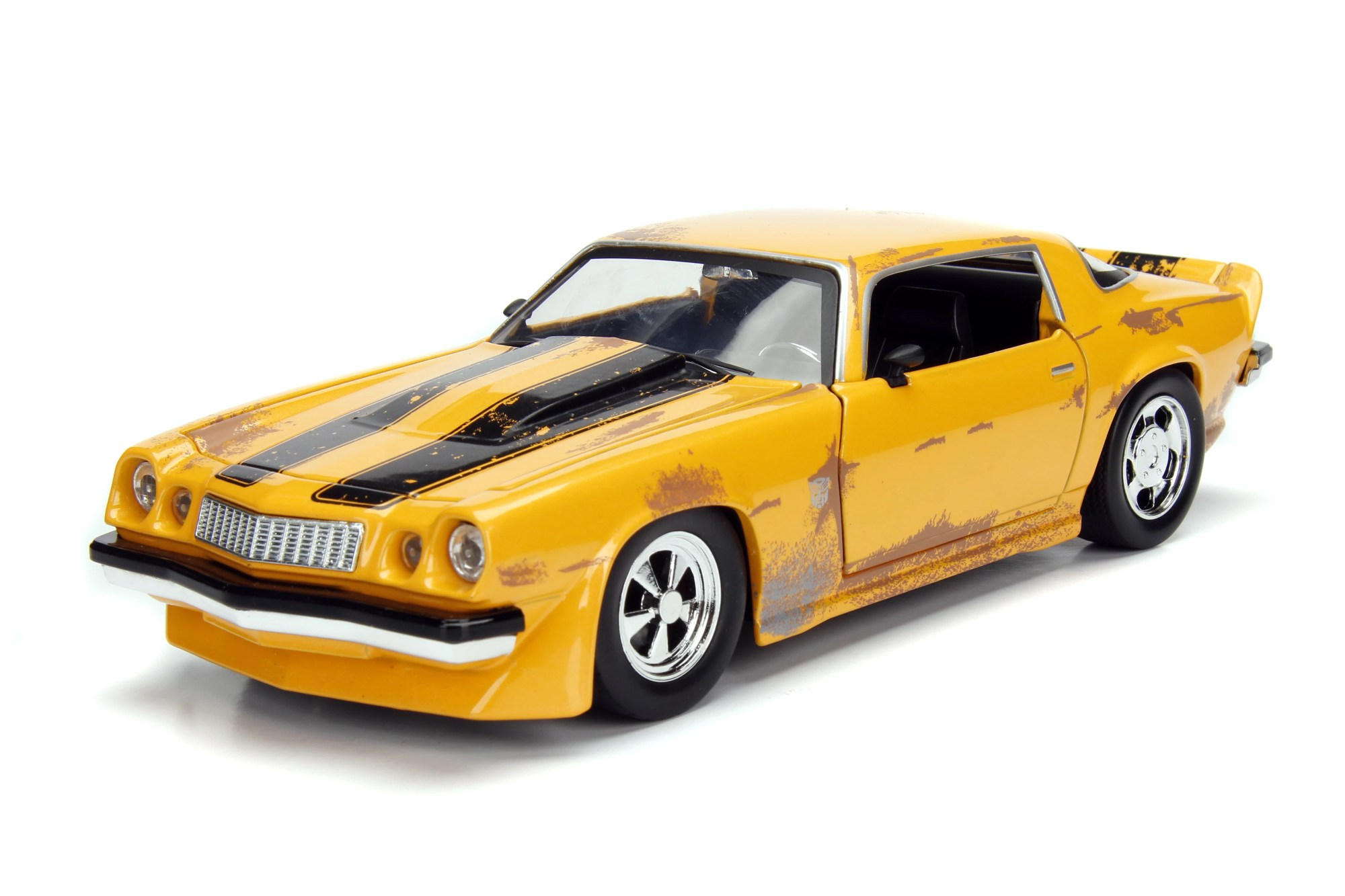 hight resolution of hollywood rides 1 24 scale 1977 chevrolet camaro concept bumblebee in yellow from transformers movie diecast car by jada toys walmart com