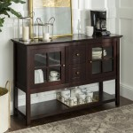 Walker Edison 52 Wood Console Table Buffet Tv Stand For Tv S Up To 55 Espresso Brickseek