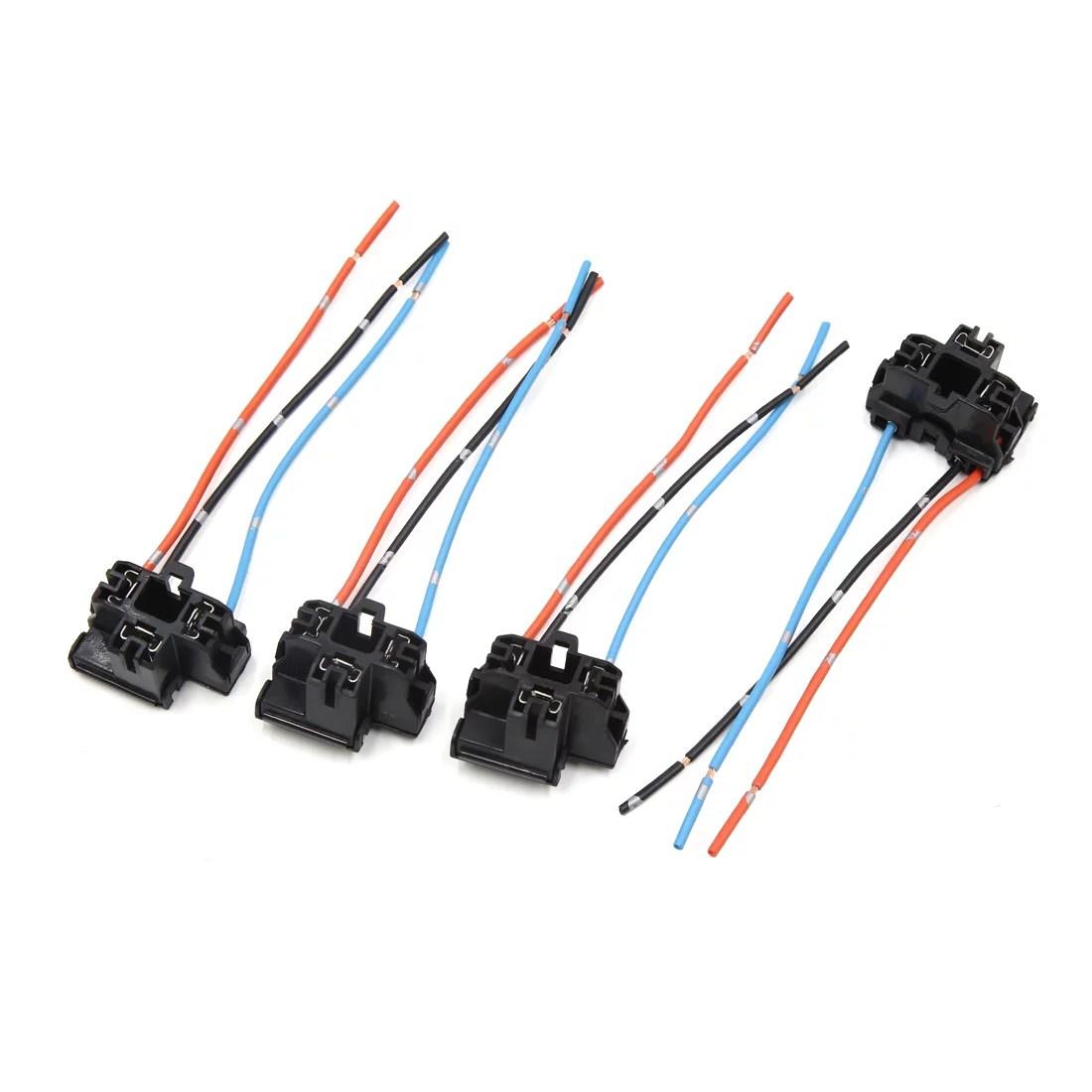 medium resolution of 2 pcs h4 plastic wire wiring car head light bulb harness socket connector
