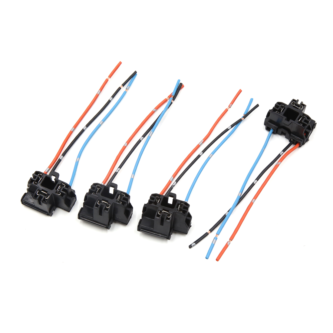 hight resolution of 2 pcs h4 plastic wire wiring car head light bulb harness socket connector