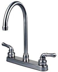 "RV / Mobile Home Kitchen Sink Faucet with 14.5"" Tall Spout ..."