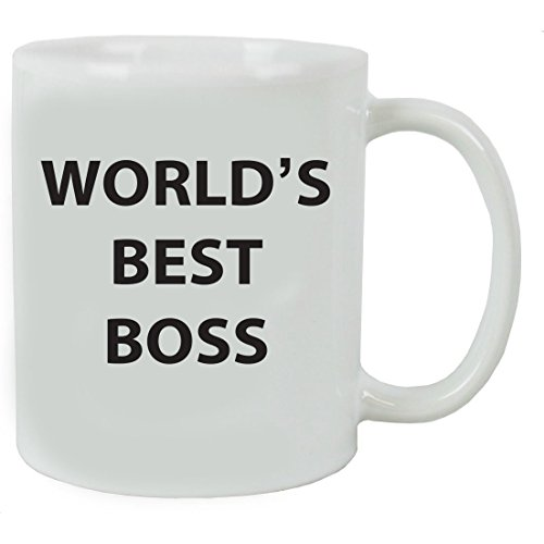 World S Best Boss 11 Oz White Ceramic Coffee Mug With Gift