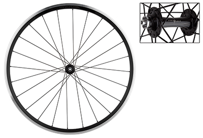 Origin8 SL18 Front Bike Wheel 700c Black Rim Brake 24-Hole