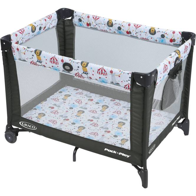Graco Pack N Play Playard On The Go With Folding Feet Circus Time