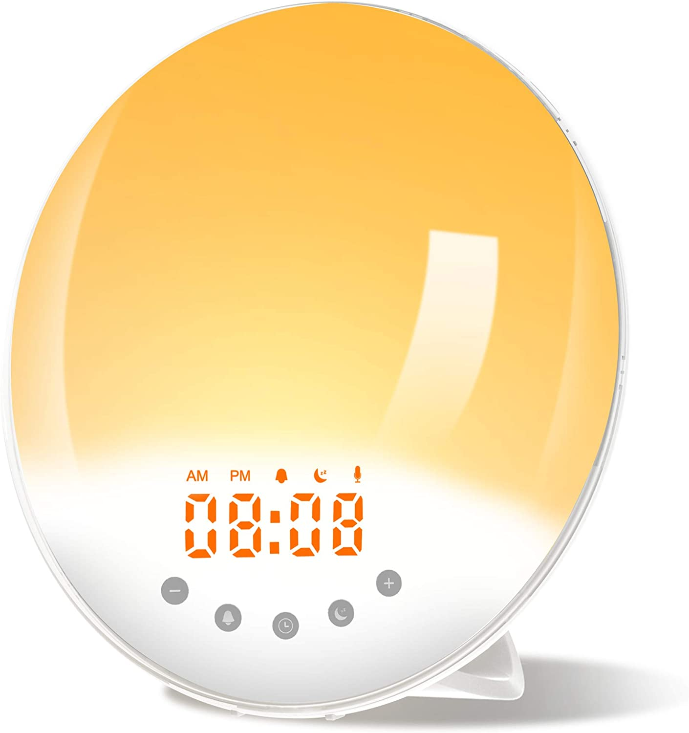 Wake Up Light Alarm Clock Sunrise Sunset Simulation Children S Alarm Clock With 6 Colors Record Function Fm Radio 8 Walmart Canada