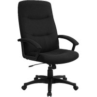 Fabric Upholstered Executive High-Back Swivel Office Chair ...