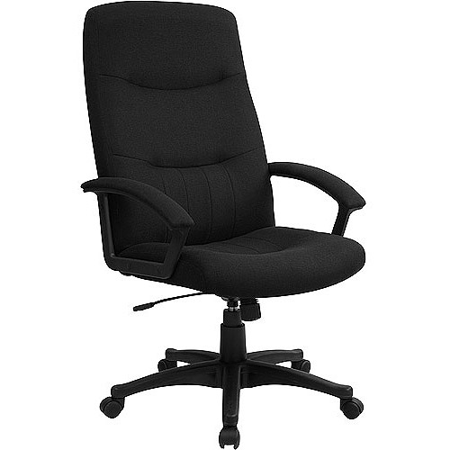 desk chair at walmart sash alternatives fabric upholstered executive high back swivel office com