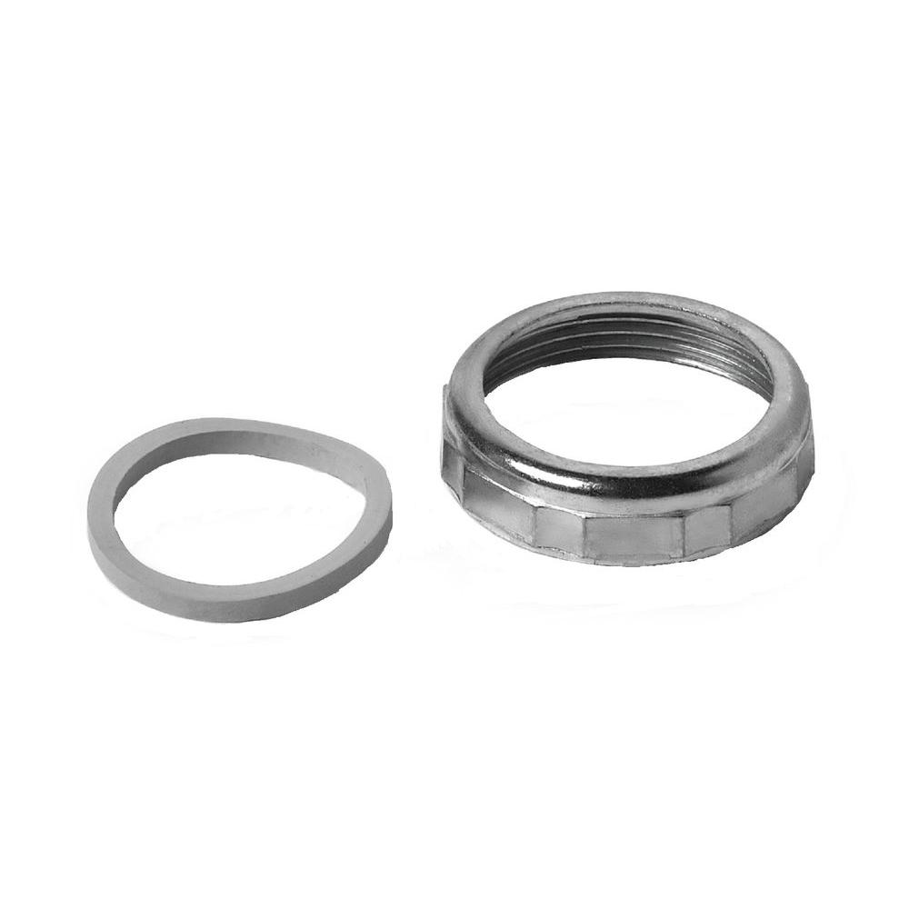 1 1 2 in sink drain pipe zinc slip joint nut with rubber reducing washer walmart com