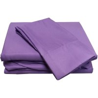 Solid Colored Bed Sheet Set Microfiber Bedding Accessories ...