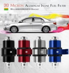 inline fuel filter 30 micron high flow aluminum inline fuel filter with an6 an8 an10 bracket walmart com [ 1010 x 1010 Pixel ]