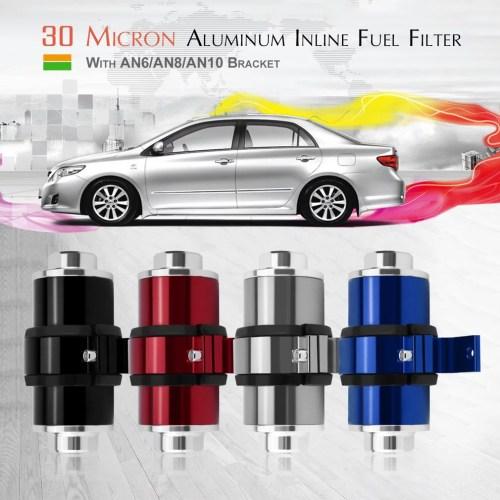 small resolution of inline fuel filter 30 micron high flow aluminum inline fuel filter with an6 an8 an10 bracket walmart com