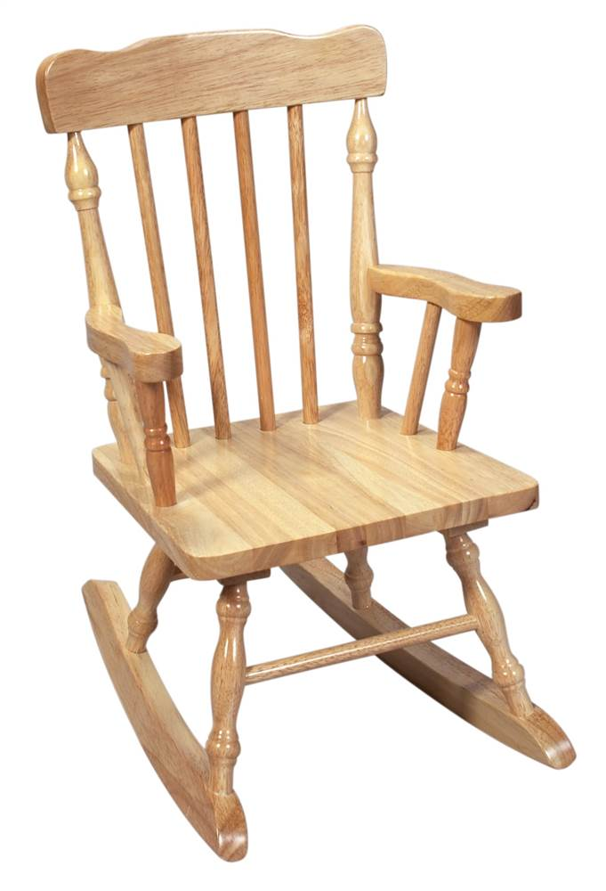 kids wood rocking chair round and a half canada chairs walmart com product image solid colonial style w natural finish