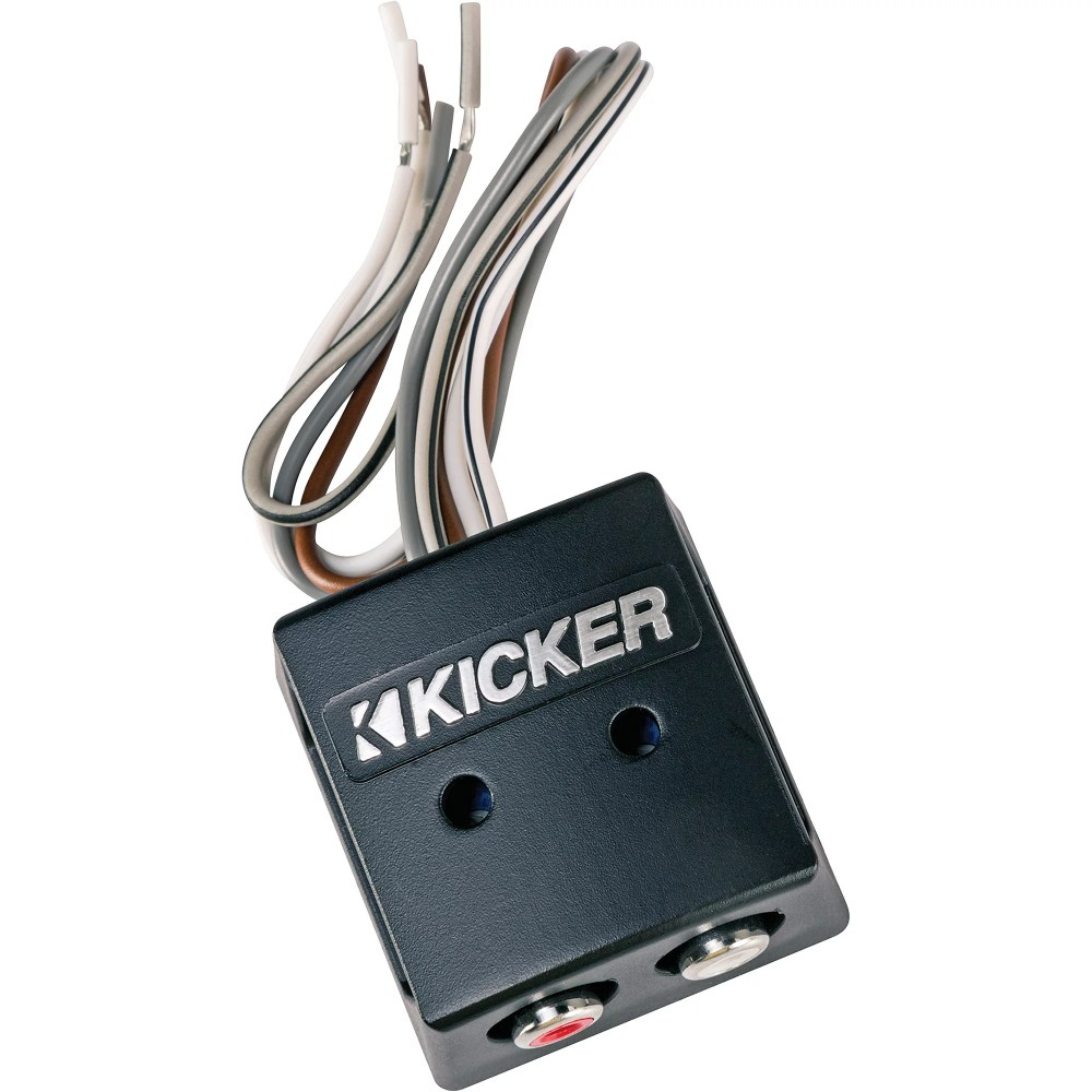 medium resolution of kicker line out converter kisloc 2 channel k series speaker wire to rca line out converter loc walmart com