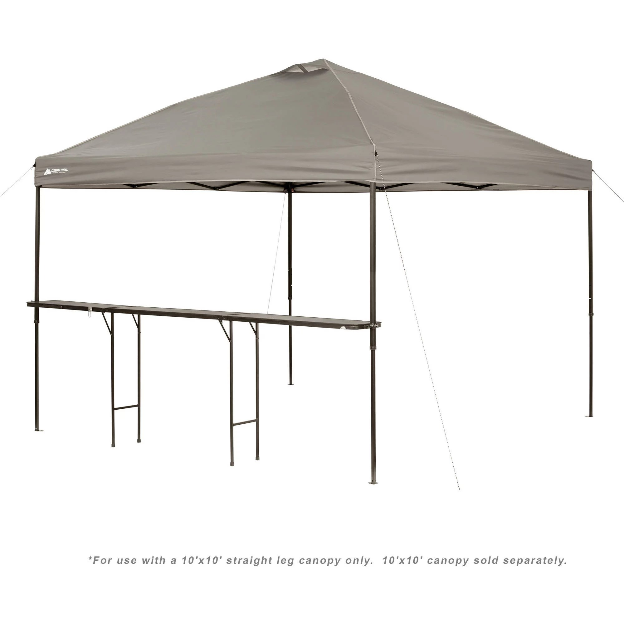ozark trail bar height 10 folding table for use with canopy canopy not included