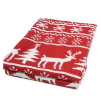 Red & White Reindeer Holiday Throw Blanket - Walmart.com