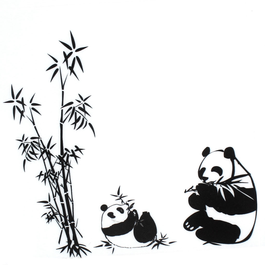 Room Decor DIY Panda Bamboo Pattern Removable Wall Sticker ...