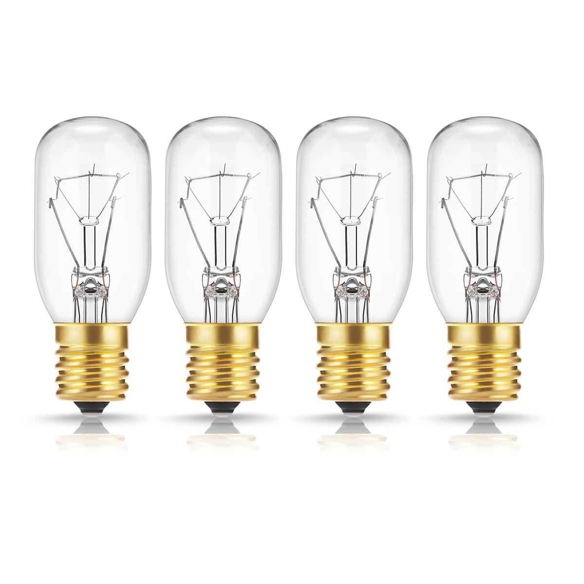 40 watt appliance light bulb t8 tubular incandescent light bulbs microwave oven replacement bulb e17 base dimmable warm white 4 pack