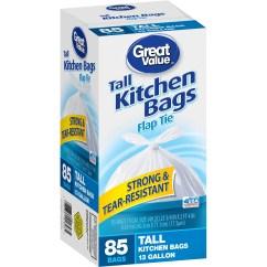 Kitchen Bags Home Equipment Hero Lavender Stripes Flap Tie Garbage 4 Gallon 48 Ct Walmart Com