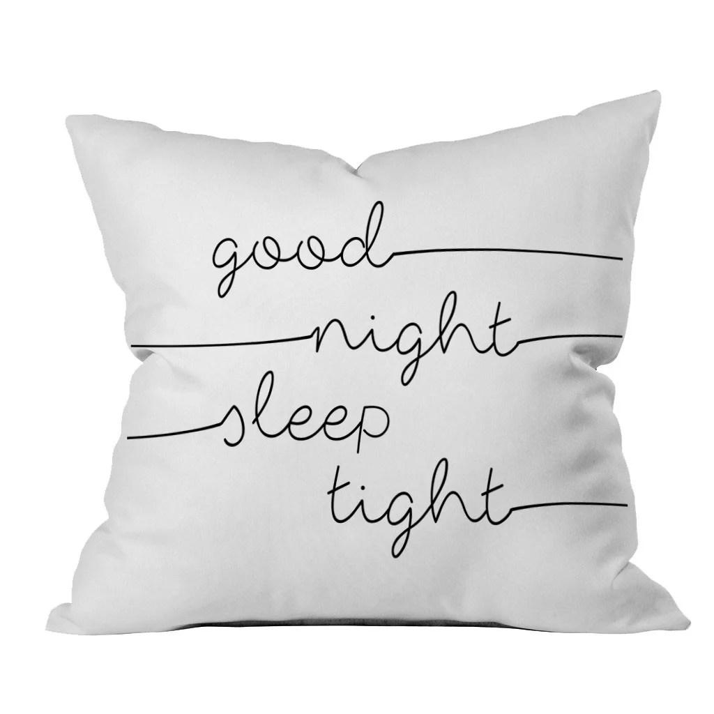 good night sleep tight 18x18 inch throw pillow cover