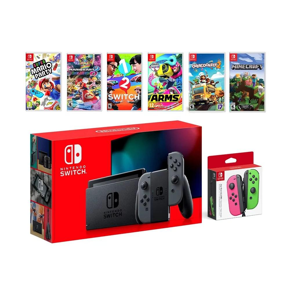 2019 New Nintendo Switch Gray Joy Con Console Multiplayer
