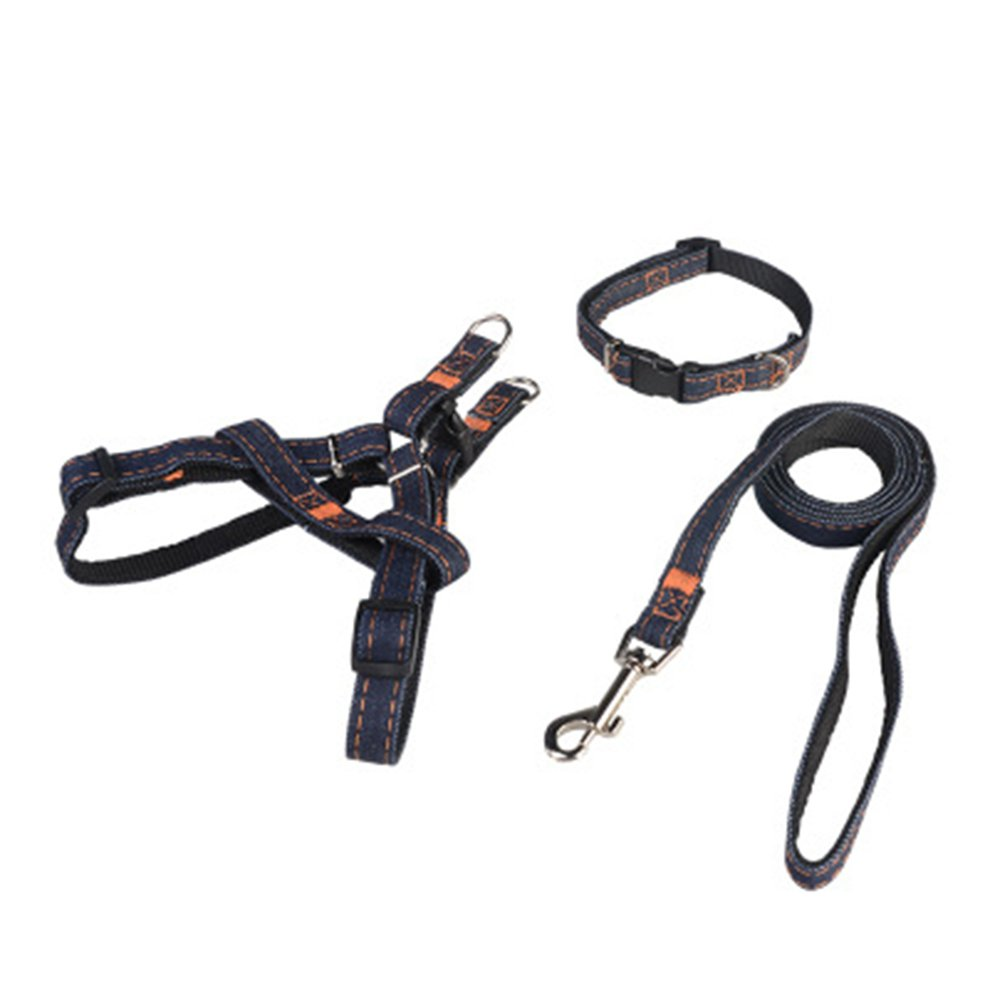 Pet Dog Leash Harness Collar Set Adjustable & Durable