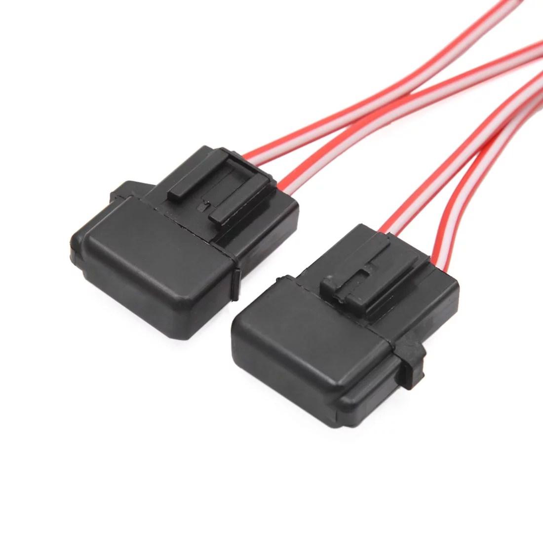2pcs black plastic square shell cap wiring harness fuse holder for car vehicle walmart canada [ 1100 x 1100 Pixel ]
