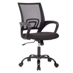 Ergonomic Chair Description Armchair Cover Diy Mid Back Mesh Computer Desk Office Black Walmart Com