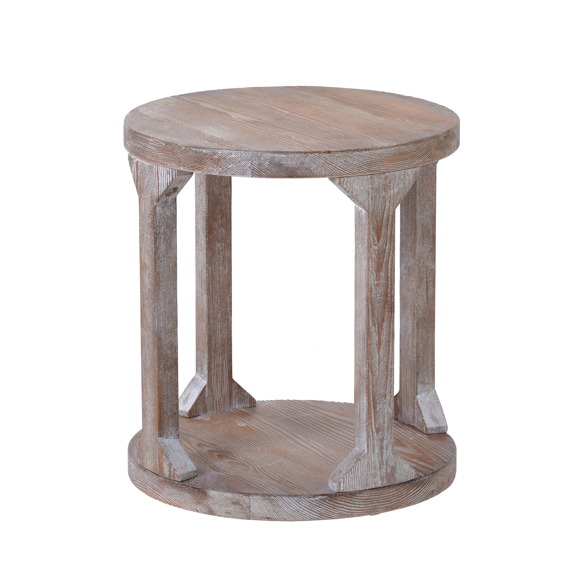 round coffee table rustic wooden coffee table end table vintage end table for living room balcony modern design home furniture with storage open
