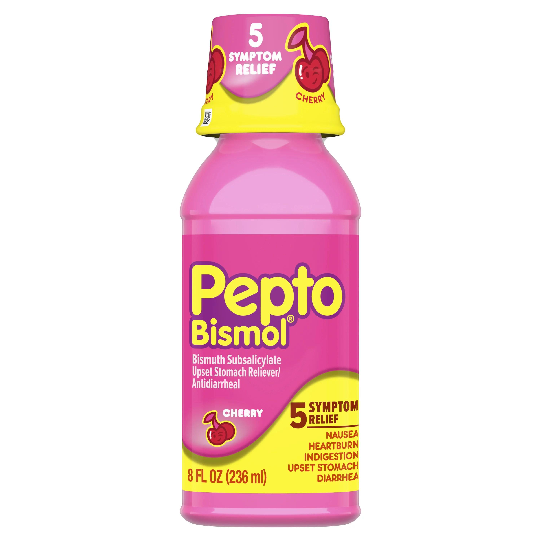 Pepto Bismol 5 Symptom Stomach Relief Liquid Cherry ...