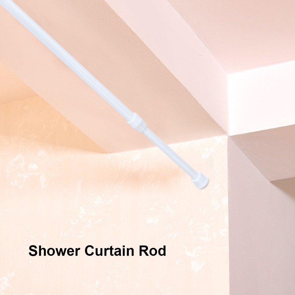 adjustable spring loaded tension rod shower extendable curtain closet window rail pole spring tension curtain rod adjustable spring tension rod