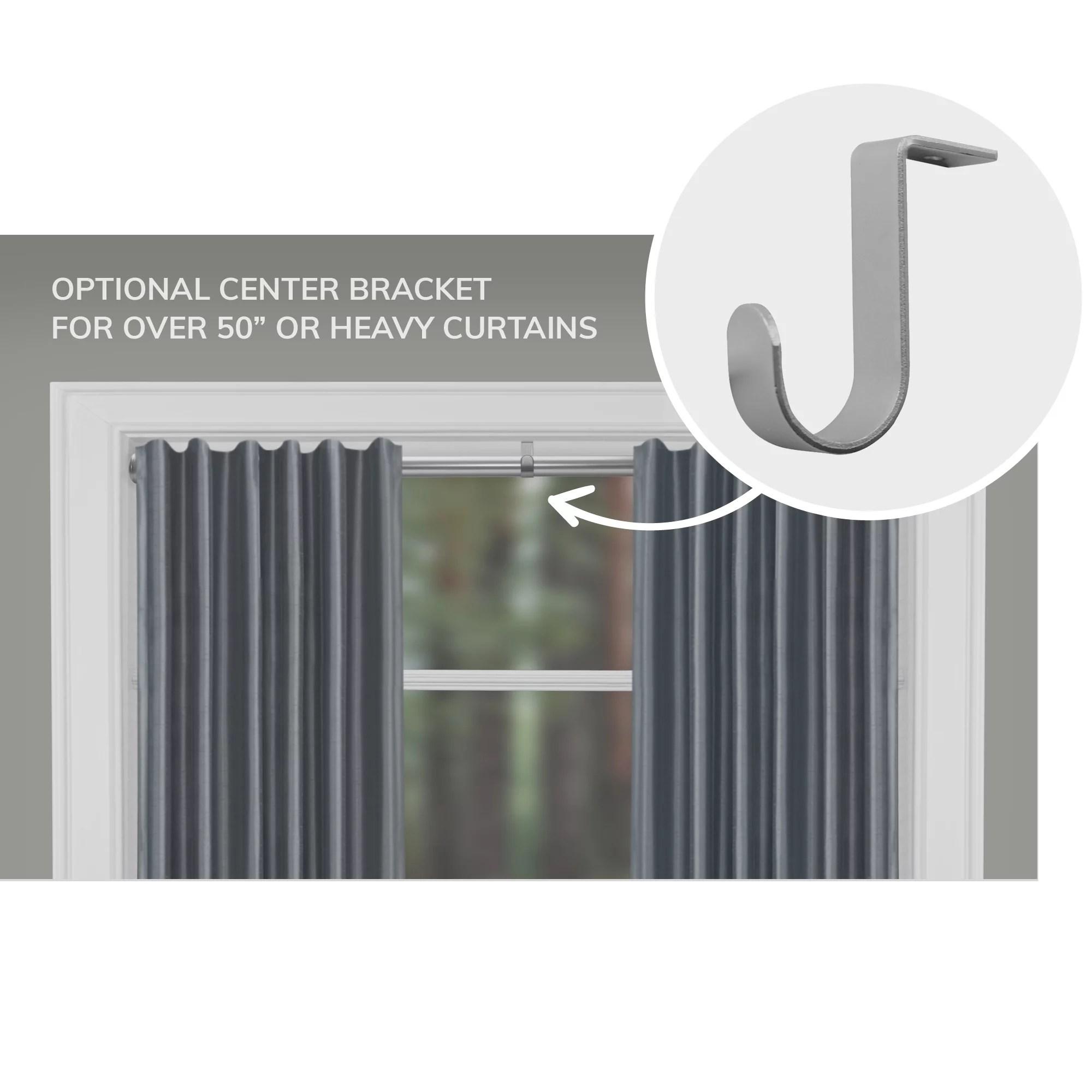 mainstays 48 84 adjustable tension curtain rod black