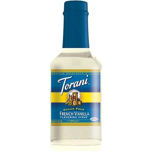 Torani Sugar Free French Vanilla Flavoring Syrup 122 fl