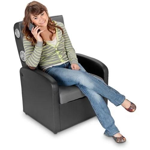 storage ottoman sound chair modern task x rocker 2 1 flip gaming with black gray walmart com