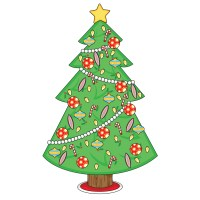 Christmas Tree Wall Decal & Christmas Decorations Peel and ...