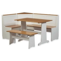 Kitchen Nook Table Set Sinks For Sale Linon Ardmore Breakfast Corner In White